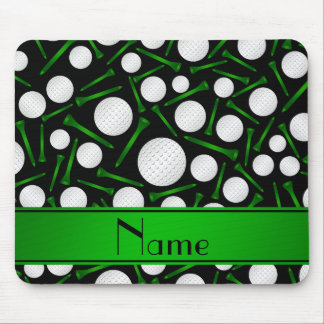 Personalized name black golf balls tees mouse pad