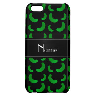 Personalized name black green pickles cover for iPhone 5C