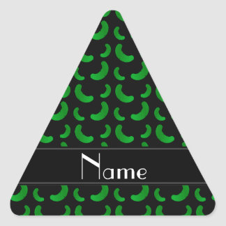 Personalized name black green pickles sticker