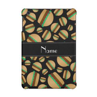Personalized name black hamburger pattern iPad mini covers