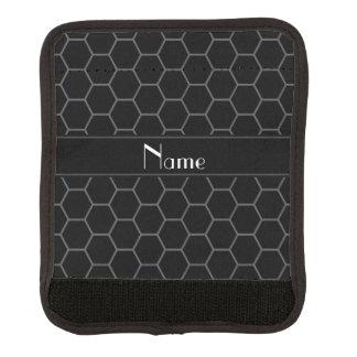 Personalized name black honeycomb handle wrap