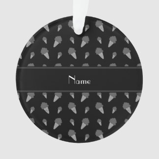 Personalized name black ice cream pattern