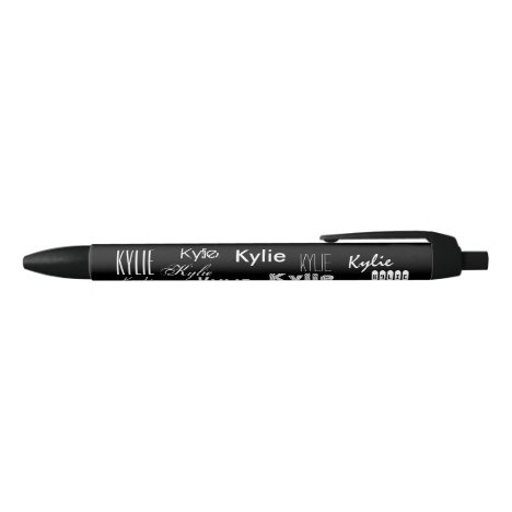 Personalized Name Black Ink Pen