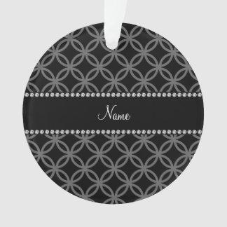 Personalized name black interlocking circles
