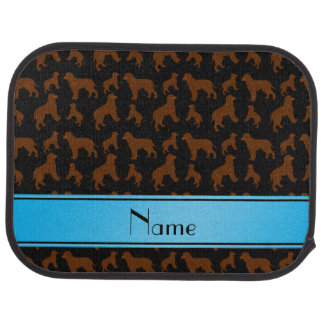 Personalized name black Irish Water Spaniel dogs Car Floor Mat