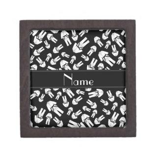 Personalized name black karate pattern premium gift boxes