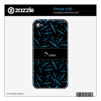 Personalized name black kayaks decals for the iPhone 4