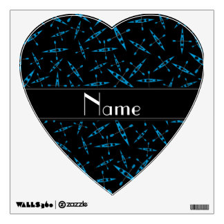 Personalized name black kayaks wall graphic