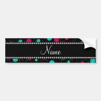 Personalized name black knitting pattern bumper sticker