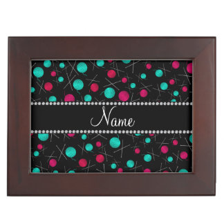 Personalized name black knitting pattern keepsake boxes