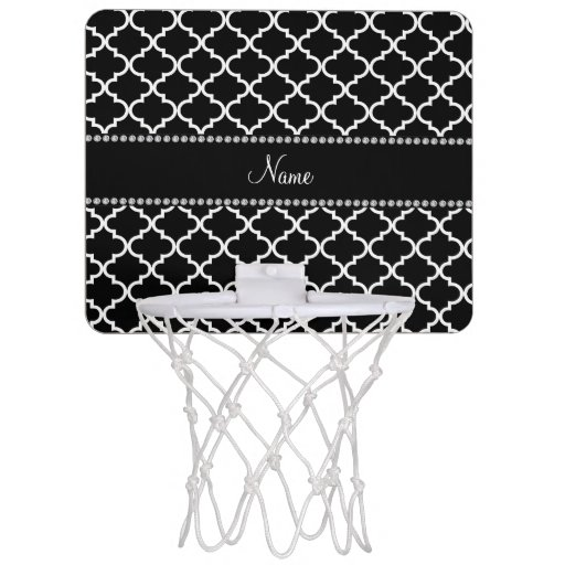 Personalized Name Black Moroccan Mini Basketball Backboard Zazzle