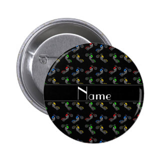 Personalized name black motorcycles pin