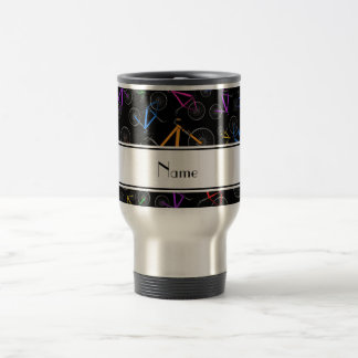 Personalized name black mountain bikes mug