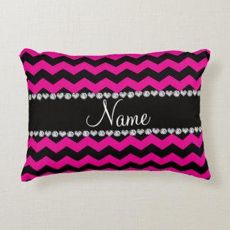 Hot Pink And Black Pillows - Decorative & Throw Pillows Zazzle