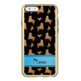 Personalized name black Norwich Terrier dogs Incipio Feather® Shine iPhone 6 Case