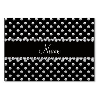 Personalized name black pearls card