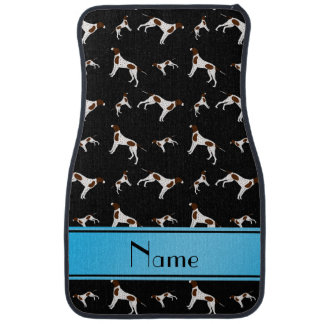 Personalized name black Pointer dogs Car Floor Mat