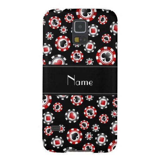 Personalized name black poker chips galaxy s5 cases zazzle
