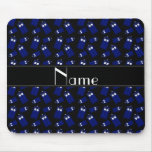 Personalized name black police box mouse pads