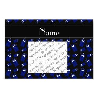 Personalized name black police box photo art
