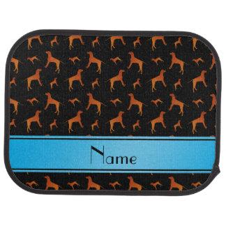 Personalized name black Rhodesian ridgeback dogs Car Floor Mat