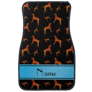 Personalized name black Rhodesian ridgeback dogs Car Mat