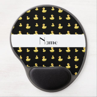 Personalized name black rubber duck pattern gel mouse pad