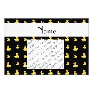 Personalized name black rubber duck pattern photo