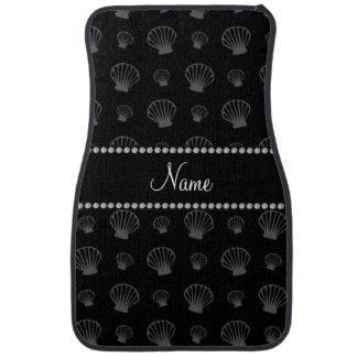 Personalized name black shells car floor mat