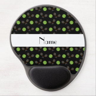 Personalized name black tennis balls gel mouse pad