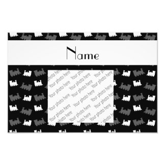 Personalized name black train pattern art photo