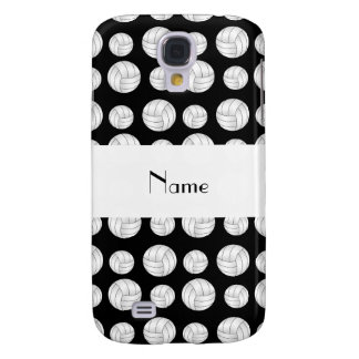 Personalized name black volleyball balls galaxy s4 cover