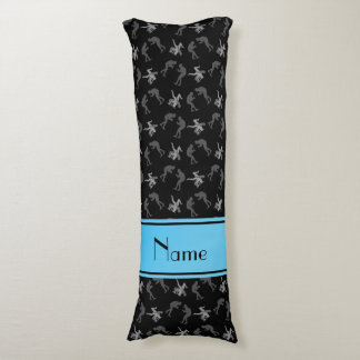 Personalized name black wrestlers body pillow