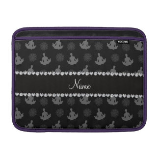 Personalized name black yoga pattern sleeve for MacBook air