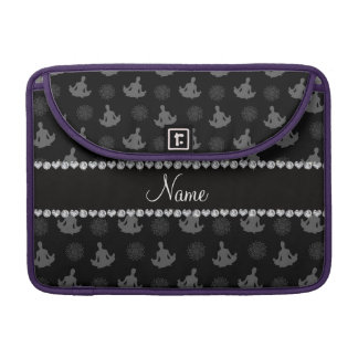 Personalized name black yoga pattern sleeve for MacBook pro
