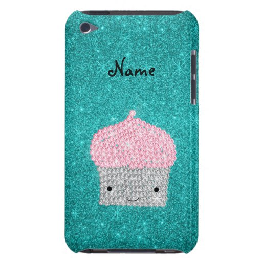 Personalized name bling cupcake diamonds iPod touch Case-Mate case