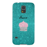 Personalized name bling cupcake diamonds galaxy s5 cover