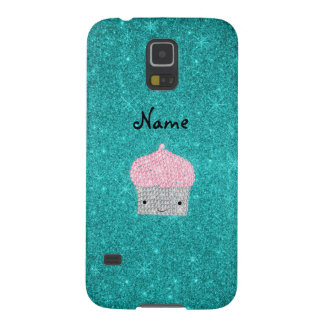 Personalized name bling cupcake diamonds case for galaxy s5