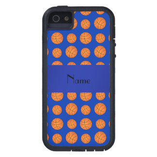 Personalized name blue basketballs iPhone 5 covers
