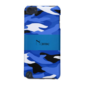 Personalized name blue camouflage iPod touch (5th generation) cover