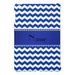 Personalized name blue chevrons diamonds cover for the iPad mini