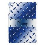 Personalized name blue diamond plate steel iPad mini cases