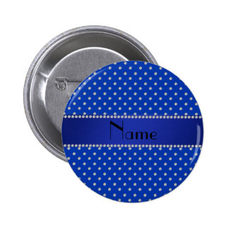 Personalized name blue diamonds pins