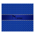Personalized name blue diamonds poster