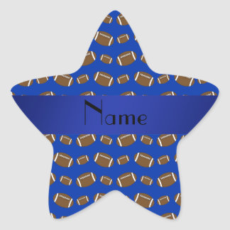 Personalized name blue footballs star sticker