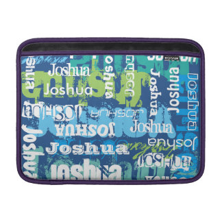 Personalized Name Blue Green Subway Art MacBook Air Sleeve