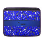 Personalized name blue lacrosse sleeve for MacBook air