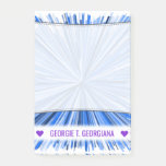 [ Thumbnail: Personalized Name; Blue Line Burst Pattern Notes ]