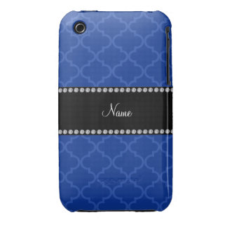 Personalized name Blue moroccan iPhone 3 Case-Mate Case