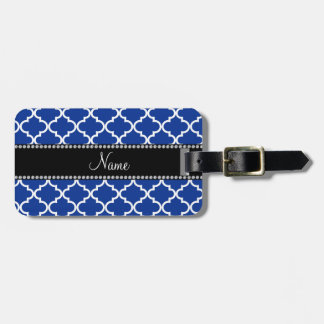 Personalized name Blue moroccan Tag For Bags